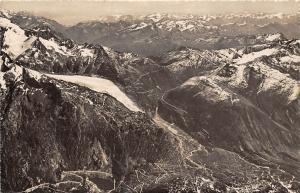 Fliegeraufnahme der Swissair, Grimselstrasse, Rhonegletscher Furkastrasse 1947