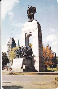 Close-up of Memorial and Glimpse of the Hill, Ottawa, Ontario, Canada, 40-60's