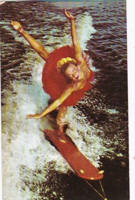 Florida Cypress Gardens Aqua Ballerina Water Skiier