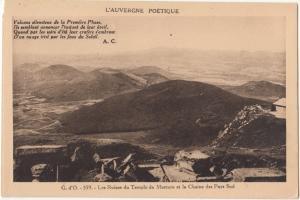 France, Les Ruines du Temple de Mercure et la Chaine des Puys Sud, Postcard