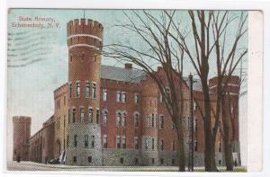 State Armory Schenectady New York 1908 postcard