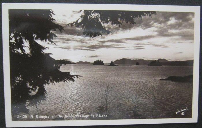 A Glimpse Of The Inside Passage To Alaska RPPC Sehallerers S130