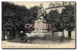 Old Postcard Belfort Statue When Meme