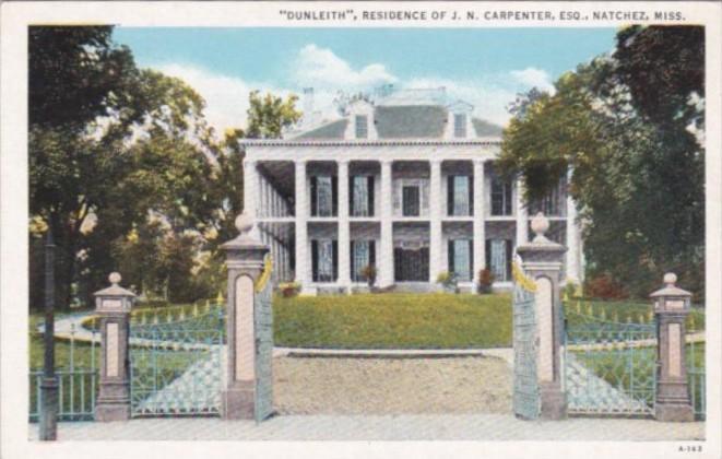 Mississippi Natchez Dunleith Home Of J N Carpenter Curteich