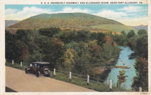Near PORT ALLEGANY, Pennsylvania, 1900-1910's; U.S. 6 Roosevelt Highway And A...