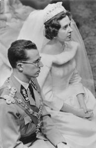Royalty Majestes Roi Baudouin, Reine Fabiola Bruxelles Real Photo wedding 1960