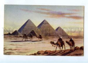 247503 EGYPT Pyramids & Desert CAMEL rider Lahnert & Landrock