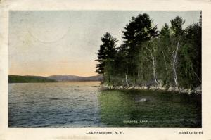 NH - Lake Sunapee. The View from Georges Mills.   *DPO- Soo Nipi Park, NH, 19...