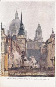 AS: John Fulleylove, LONDON, St. Paul's Cathedral, from Ludgate Circus, Engla...