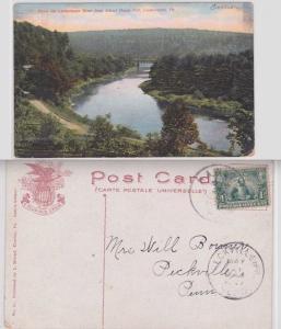 Lackawaxen River Bridge School Pennsylvania L. Hensel Postcard 1c John Smith