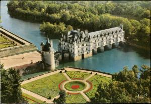 Chenonceaux Indre et loire vue aerienne du chateau