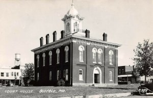 LPSS50 Buffalo Missouri Dallas County Court House Postcard RPPC