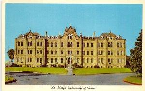 San Antonio Texas 1960s Postcard St. Mary's University Of Texas