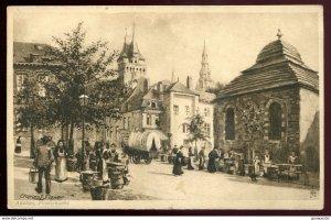 dc1033 - GERMANY Aachen 1910s Fischmarkt. Artist- CHARLES E. FLOWER by Tuck