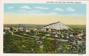 Mines Lead Mine and Chat Pile Flat River Missouri Curteich