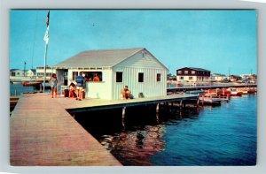 Rehoboth DE- Delaware, Pier Dewey Beach, Chrome Postcard