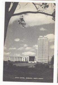 ND Bismarck North Dakota State Capitol Mayrose Co 1940s Vntg Collotype Postcard