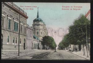 102205 SERBIA Greetings from Beograd Milan king street Vintage