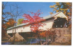Covered Bridge Postcard New Hampshire Redstone Saco River NH