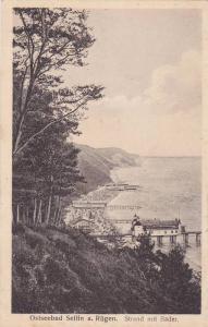 Ostseebad Sellin a. Rugen, Strand mit Bader, Germany, 10-20s