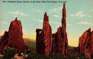 Colorado Pikes Peak Region Garden Of The Gods Cathedral Spires