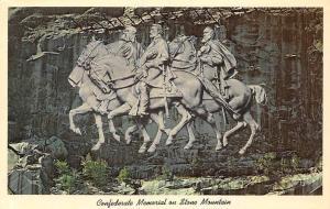 Ga. Stone Mountain, Confederate Memorial horses carving Jefferson Robert Jackson