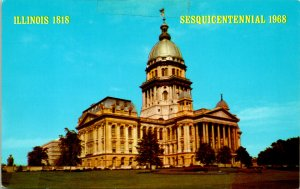 Springfield IL State Capitol Building Sesquicentennial Postcard unused (21345)