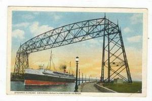 Steamer Huronic Entering Duluth-Superior Harbor, 1910-10s