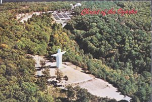 Eureka Springs AR - Aerial of CHRIST of the OZARKS, 1970s-OVERSIZED