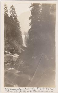 RP: Yosemite National Park , California , 1915;  Vernal Falls up the canon