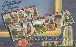 North Dakota USA Large Letter Town Unused