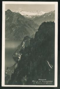 Switzerland Burgenstock Alps View from Hammetschwand auf Felsenweg RP Postcard