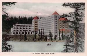 The Chateau Lake Louise, Alberta, Canada, Early Real Photo Postcard, Unused