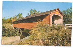 Covered Bridge Postcard Vermont Bennington VT Waloomsac