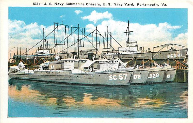 VA, Portsmouth, Virginia, U.S. Navy Submarine Chasers, U.S.