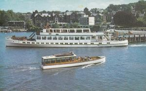 The Pier Bowness Lake Windermere Ferry Boat Cumbria 1970s Postcard