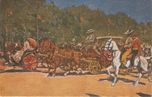 M.BERTUCHI. Horses. A los Toros Vintaghe Spanish postcard