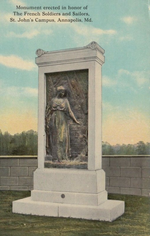 ANNAPOLIS , Maryland , 1900-10s ; French Soldier Monument