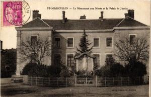 CPA St-MARCELLIN - Le Monument aux Morts et le Palais de Justice (489776)