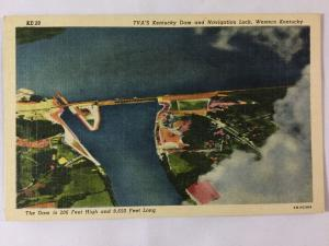 Mid-1900s TVA's Kentucky Dam and Navigation Lock, Western KY Postcard