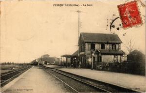 CPA FEQUIERES - La Gare (259822)