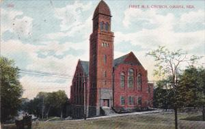 OMAHA, Nebraska, 1900-1910's; First M.E. Church