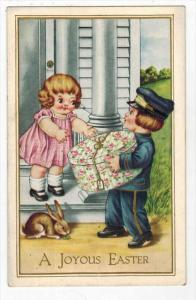 2306  Easter Children Delivery Hatbox