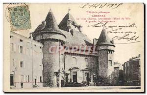 Old Postcard Aubenas Old Castle Town Hall Police