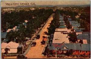 Venice, California Postcard Bird's-Eye View VILLA CITY Wayside Press c1910s