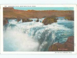 W-Border WATERFALL SCENE Twin Falls Idaho ID E4606