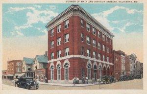 SALISBURY , Maryland , 1910s ; Main & Division Streets