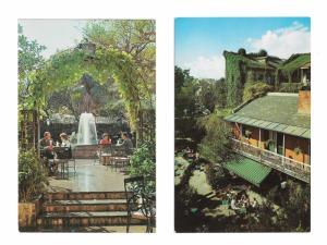 New Orleans LA Pat O Briens Restaurant Bar Courtyard Patio 2 Vintage Postcards