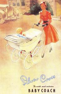 Nostalgia Postcard Silver Cross Baby Coach 1952 Advertisment Repro Card N262