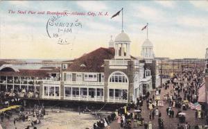 The Steel Pier and Boardwalk, Atlantic City, New Jersey, PU-1910